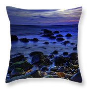 Dusk At Montauk Point Throw Pillow