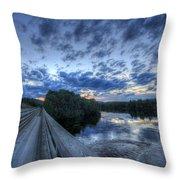 Dusk At The Abol Bridge Throw Pillow