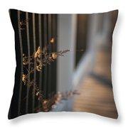 Dusk Grasses Throw Pillow