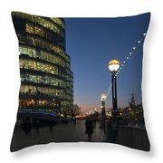 Dusk In London Throw Pillow