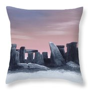 Dusk On The Winter Solstice At Stonehenge 1877 Throw Pillow