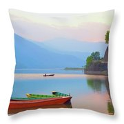 Dusk Tranquility Throw Pillow