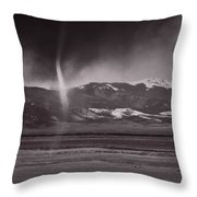 Dust Devil Over San Luis Valley Colorado Throw Pillow