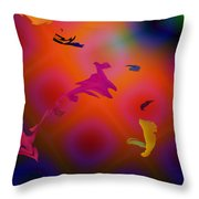 Dust Particles Throw Pillow