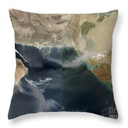 Dust Storms Across Iran, Afghanistan Throw Pillow