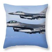 Dutch F-16ams During A Combat Air Throw Pillow