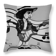 Dylan In Black And White Throw Pillow