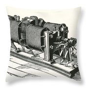 Dynamo Electric Machine Throw Pillow