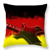E-guitar - German Rock II Throw Pillow
