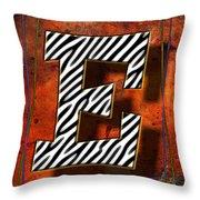 E Throw Pillow