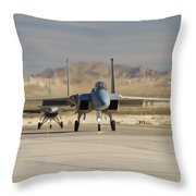 Eagle And Viper Throw Pillow