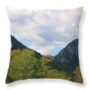Eagle Cliff Seen Froom Boise Rock In Franconia Notch Throw Pillow