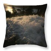 Eagle Falls Plunges Toward Lake Tahoe Throw Pillow