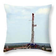 Eagle Ford Drilling Throw Pillow