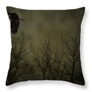 Eagle In The Mist  Throw Pillow