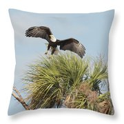 Eagle In The Palm Throw Pillow