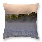 Eagle Lake Panorama Throw Pillow