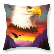 Eagle Throw Pillow by MGL Studio - Chris Hiett