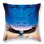Eagle Mountain Throw Pillow