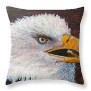 Eagle Study Throw Pillow