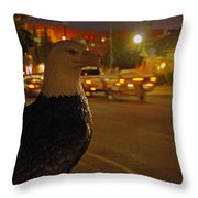 Eagle Watching Grants Pass Night Throw Pillow