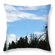 Eagles Nest Lake Tahoe Throw Pillow