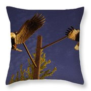 Eagles Suspended Throw Pillow