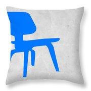Eames Blue Chair Throw Pillow