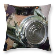 Early 1900s Buick Head Lamp Throw Pillow