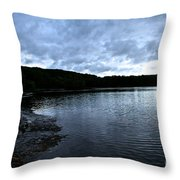 Early Am Shoreline Throw Pillow