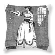 Early American Actress Throw Pillow