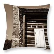 Early American House Throw Pillow by Douglas Barnett