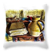 Early Colonial Still Life Throw Pillow