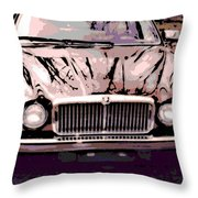 Early Jaguar Xj6 Throw Pillow