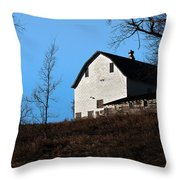 Early Morning Barn Throw Pillow