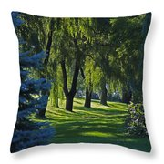 Early Morning Throw Pillow