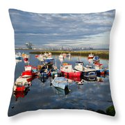 Early Morning Paddy's Hole Throw Pillow
