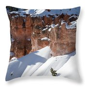 Early Morning Snow In Bryce Canyon Throw Pillow