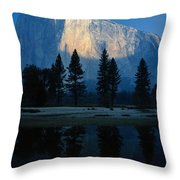 Early Morning View Of El Capitan Throw Pillow