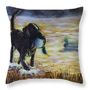 Early Morning's Light Throw Pillow