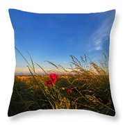 Early Poppies Throw Pillow