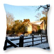 Early Snow Day Throw Pillow