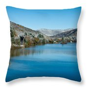 Early Snow In Vermont Throw Pillow by Edward Fielding