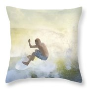 Early Surfer Throw Pillow