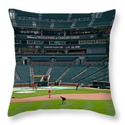 Early Warm Up's From Left Center Throw Pillow