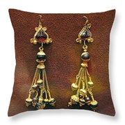Earrings With Garnets Throw Pillow