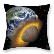 Earth Colliding With A Mars-sized Throw Pillow