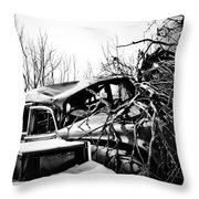 Earth Fights Back Throw Pillow