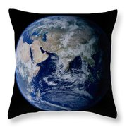 Earth From Space Showing Eastern Throw Pillow