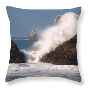 Earth Vs. Water Throw Pillow